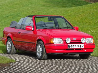 Lot 1990 Ford Escort XR3i Cabriolet