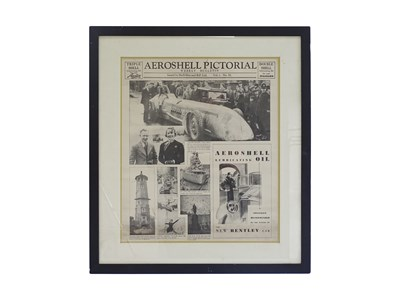 Lot 13 - Framed Areoshell pictorial weekly bulletin