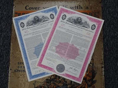 Lot 14 - Two Ford share certificates