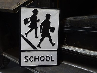 Lot 16 - Reproduction school crossing sign