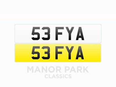 Lot 37 - Registration Number '53 FYA'