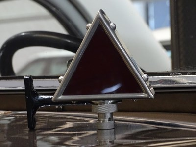 Lot 25 - Vintage nickel plated diamond shaped rear car light.