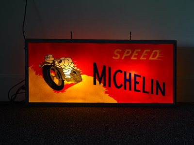 Lot 29 - Representation Michelin Speed light box.