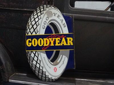 Lot 33 - Goodyear enamel sign