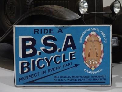 Lot 34 - BSA bicycle sign.