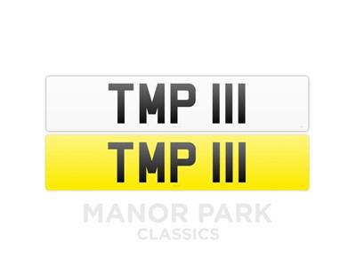 Lot Registration Numbers '111 TMP' & 'TMP 111'