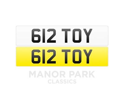 Lot Registration Number '612 TOY'