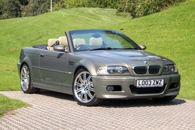 Lot 34 - 2003 BMW M3 Convertible