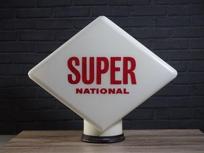 Lot 45 - Super National 2 original 1960's glass globe (Damaged)