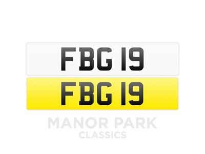 Lot 43 - Registration Number 'FBG 19'