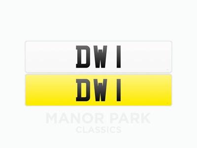 Lot 40 - Registration Number 'DW 1'