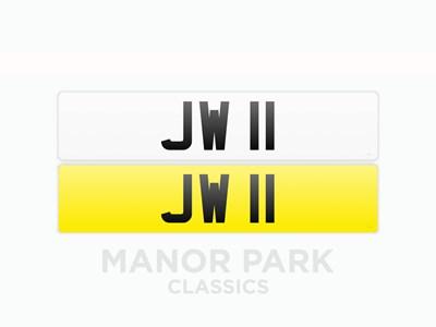 Lot 39 - Registration Number 'JW 11'